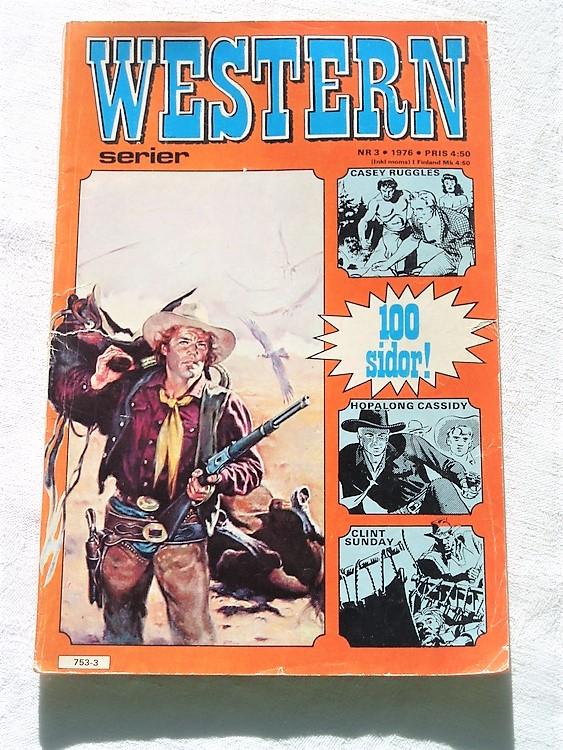 Western nr 3 1976 normalskick,normalslitet,bra skick