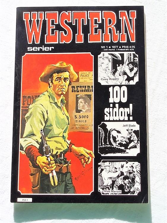 Western nr 1, 1977, 100 sidor,mycket bra skick,ny oläst
