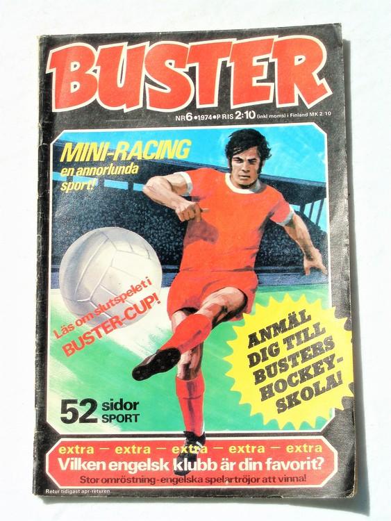 Buster nr6,1974 Semic, sämre skick,mer sliten än normalt