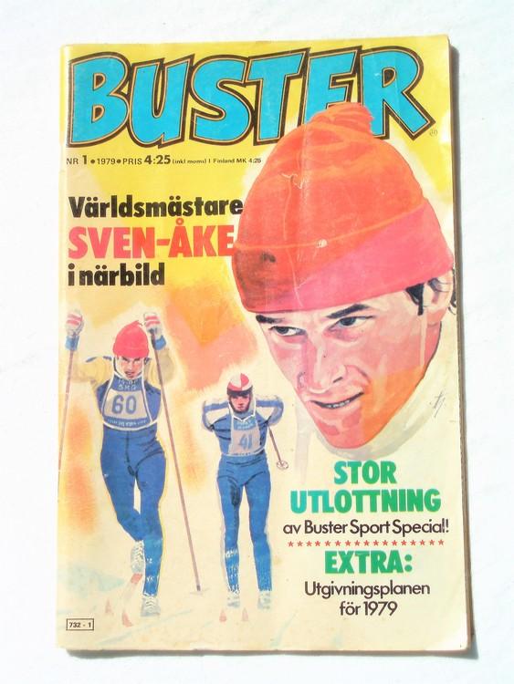 Buster nr 1,1979 Semic, sämre skick,mer sliten än normalt