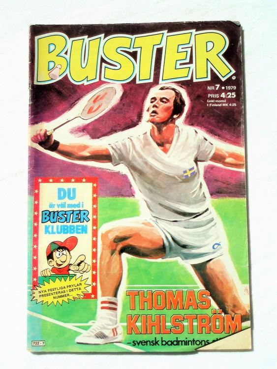 Buster nr 7,1979 Semic, sämre skick,mer sliten än normalt