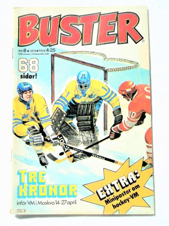 Buster nr 8,1979 Semic, sämre skick,mer sliten än normalt