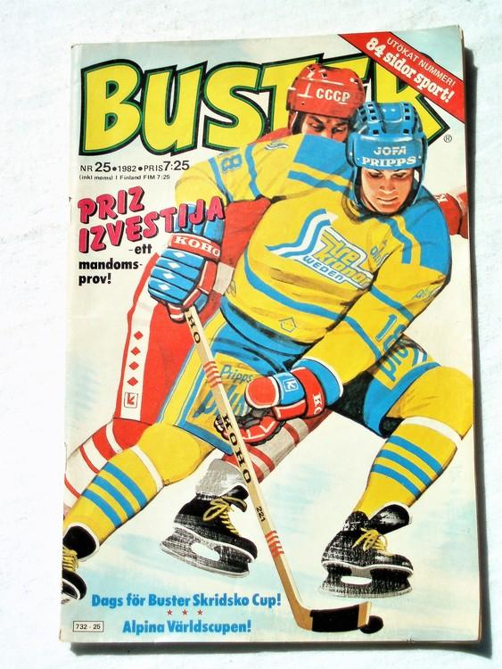 Buster nr 25,1982 Semic, sämre skick,mer sliten än normalt