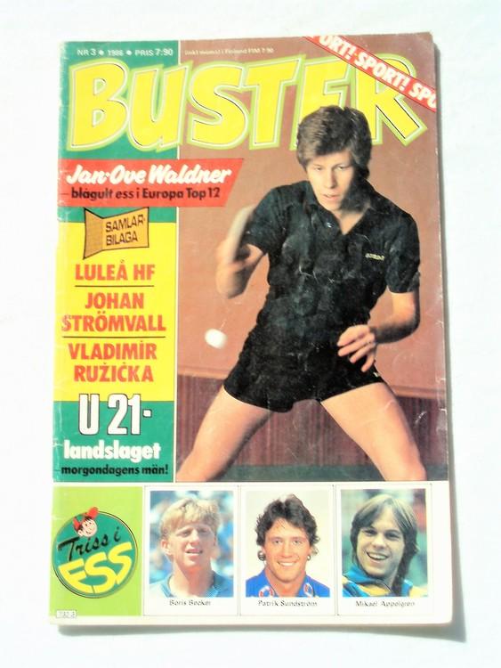 Buster nr 3,1986 Semic, sämre skick,mer sliten än normalt