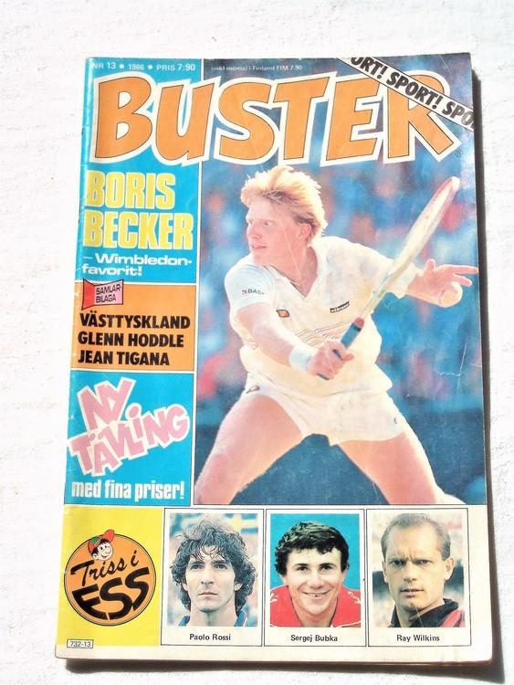 Buster nr 13,1986 Semic, sämre skick,mer sliten än normalt