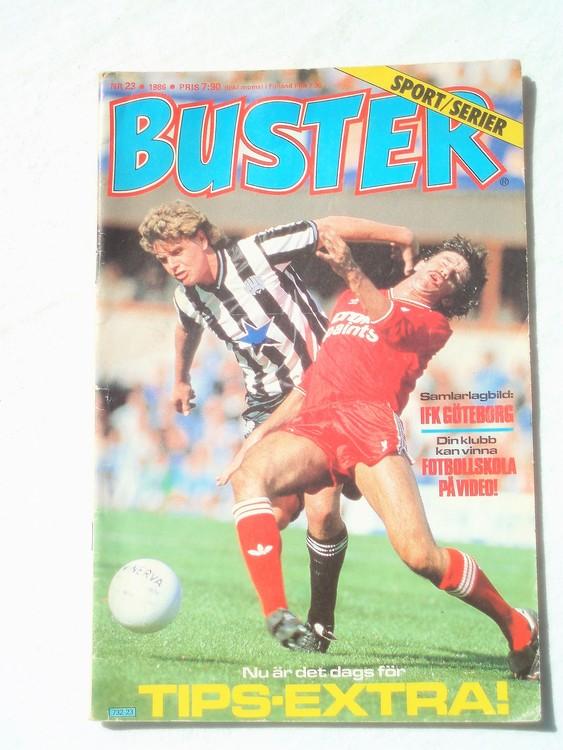Buster nr 23,1986 Semic, sämre skick,mer sliten än normalt