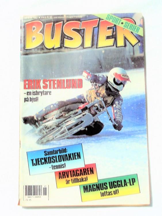 Buster nr 5,1987 Semic, sämre skick,mer sliten än normalt