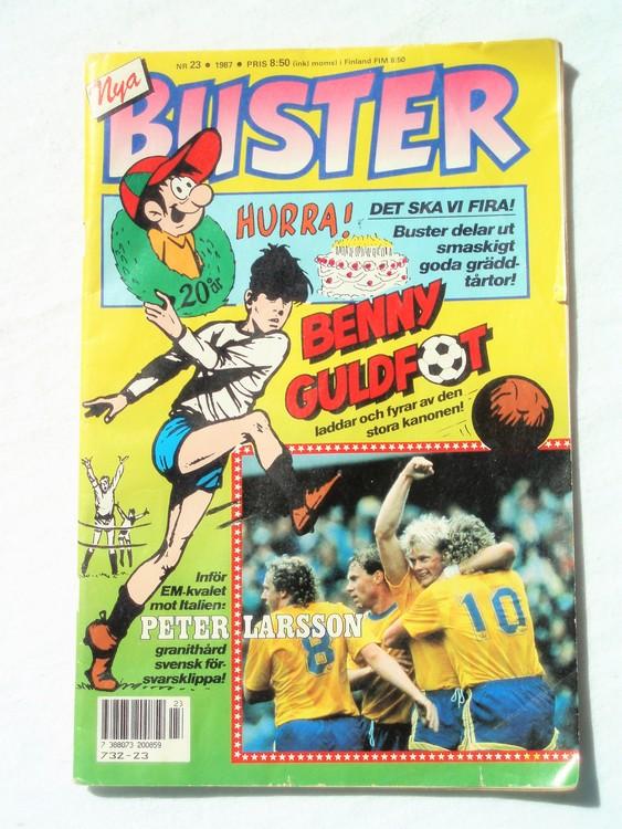 Buster nr 23,1987 Semic, sämre skick,mer sliten än normalt