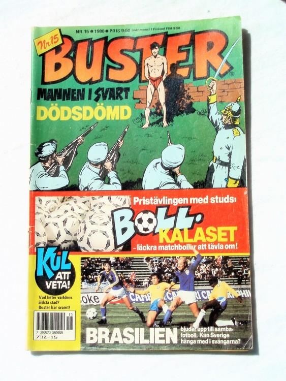 Buster nr 15,1988 Semic, sämre skick,mer sliten än normalt