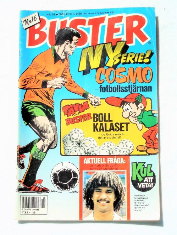 Buster nr 16 1988 Semic, sämre skick,mer sliten än normalt