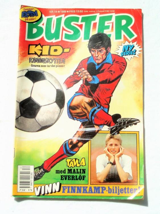 Buster nr 14 1989 Semic, sämre skick,mer sliten än normalt