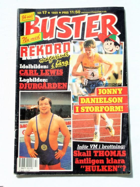 Buster nr 17 1989 Semic, sämre skick,mer sliten än normalt