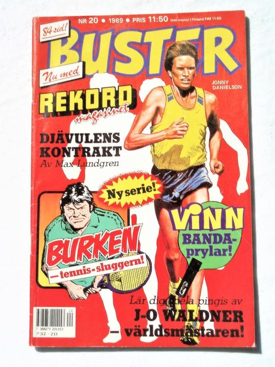 Buster nr 20 1989 Semic, sämre skick,mer sliten än normalt