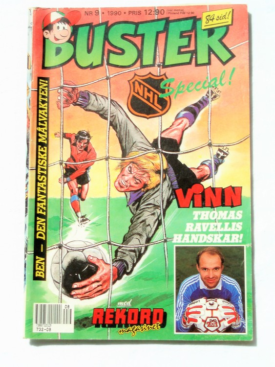 Buster nr 9 1990 Semic, sämre skick,mer sliten än normalt
