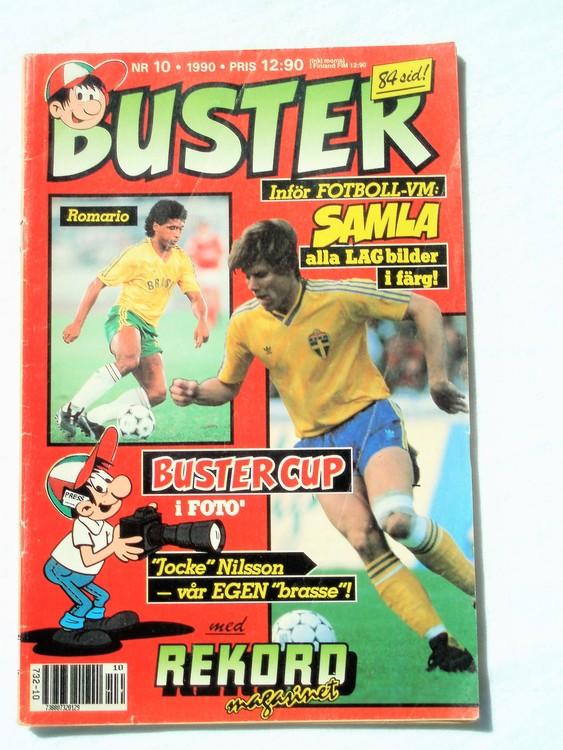 Buster nr 10 1990 Semic, sämre skick,mer sliten än normalt