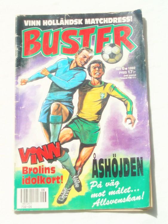 Buster nr 6 1992 Semic, sämre skick,mer sliten än normalt