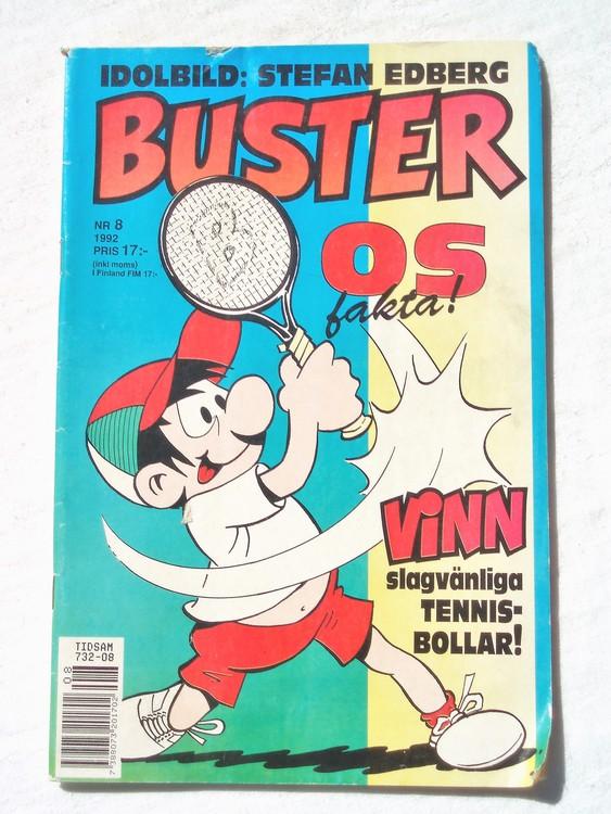 Buster nr 8 1992 Semic, sämre skick,mer sliten än normalt