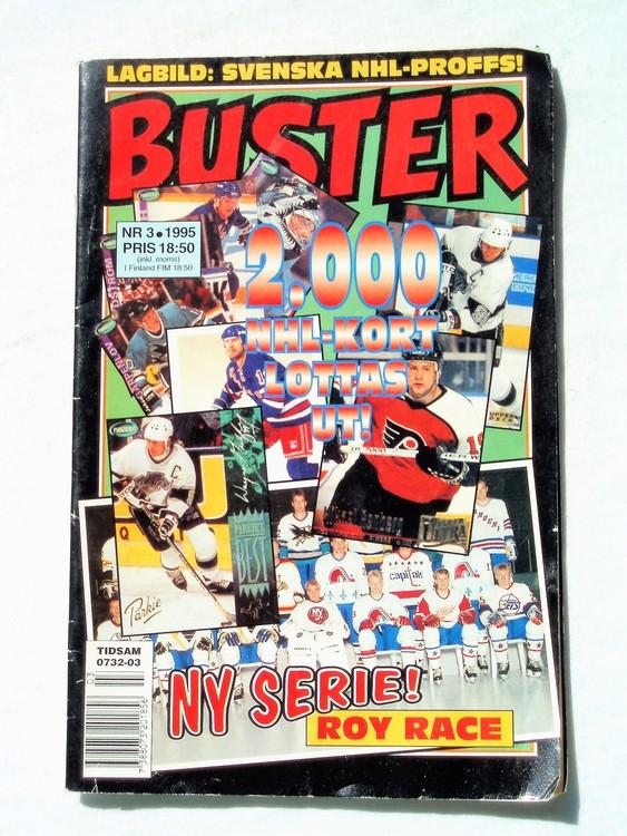 Buster nr 3 1995 Semic, sämre skick,mer sliten än normalt