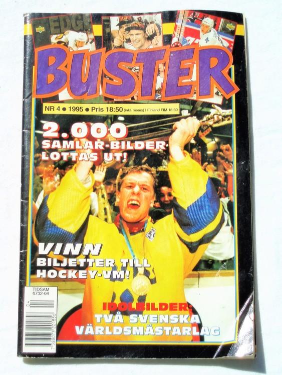 Buster nr 4 1995 Semic,sämre skick,mer sliten än normalt.