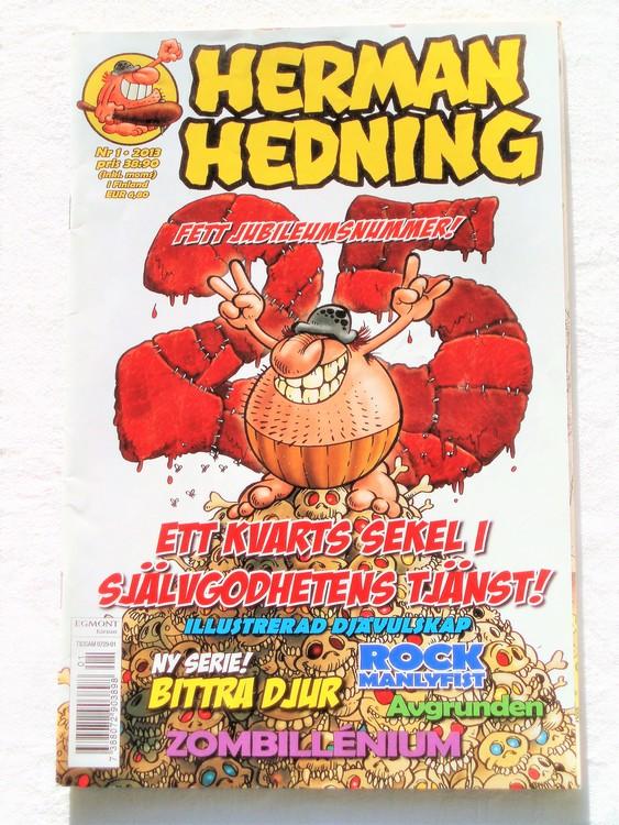 Herman Hedning nr 1 2013 mycket bra skick.