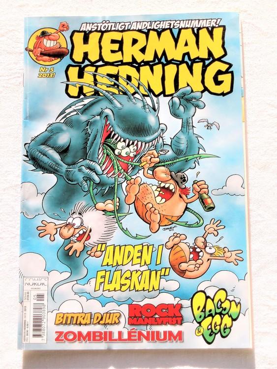 Herman Hedning nr 5 2013 mycket bra skick,nära nyskick,
