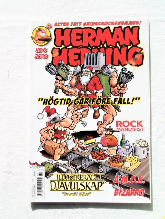 Herman Hedning nr6 2016 mycket bra skick,nära nyskick,adresstryck baksida.