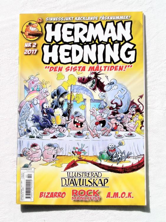 Herman Hedning nr2 2017 mycket bra skick,nära nyskick,adresstryck baksida.