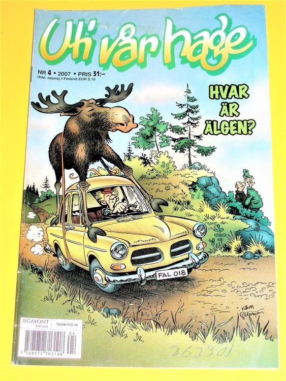 Uti vår hage nr 4/2007 VG Bruksskick, några småveck.Korsord ifyllt, blyerts.