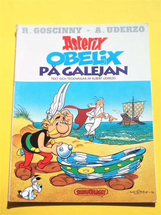 """Asterix Obelix""""På Galejan""""1:a upplagan vg normalskick normalslitet,serief"""