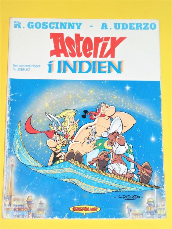 Asterix i Indien 1:a Upplagan Serieförlaget,G mer slitage än normalt