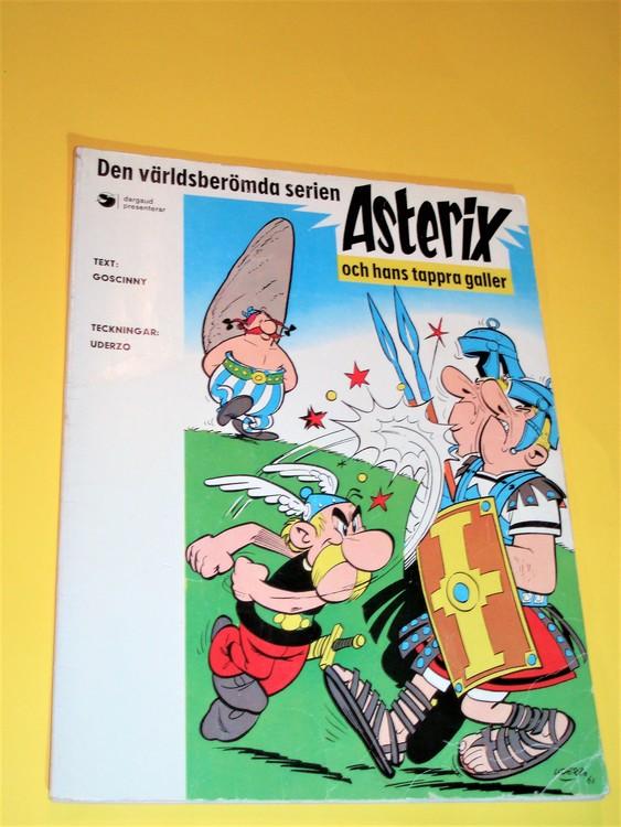 Asterix och hans tappra galler nr 1/1974 Serieförlaget, normalskick, normalslitet
