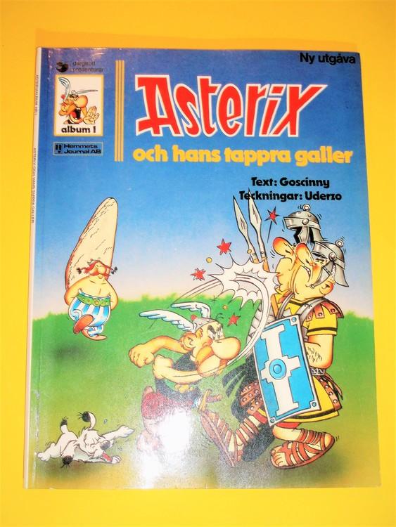 Asterix och hans tappra galler nr 1 Serieförlaget,VG normalskick, normalslitet