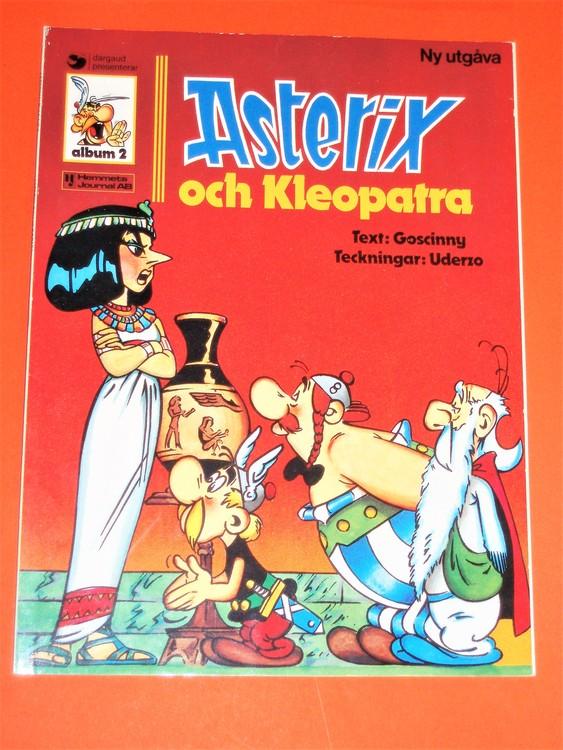 """Asterix """" och Kleopatra """", vg, normalskick, normalslitet,hj,album 2"""