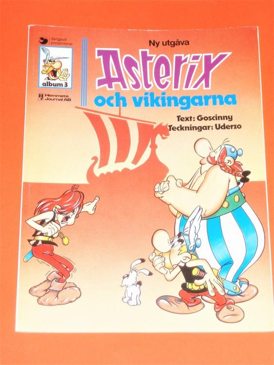 """Asterix """"och Vikingarna """", vg, normalskick, normalslitet,hj, album 3"""