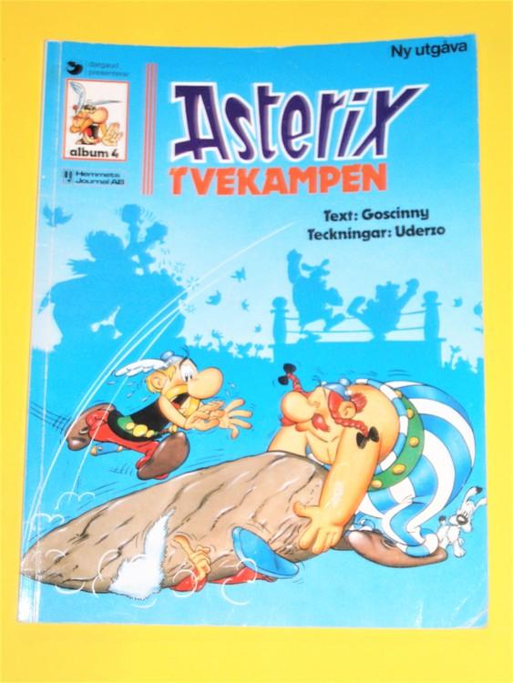 """Asterix """" Tvekampen """", vg, normalskick, normalslitet,hj, album 4"""