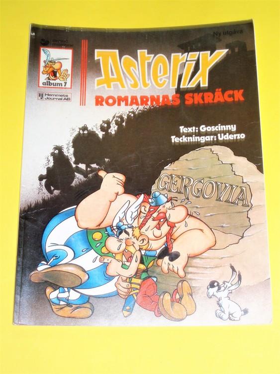 """Asterix """" Romarnas Skräck """", vg, normalskick, normalslitet,hj,a7"""