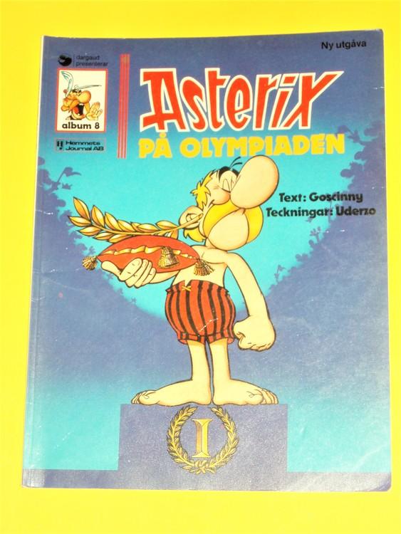 """Asterix""""på Olympiaden"""", vg,normalskick,normal slitet, hemmets journal,a 8"""