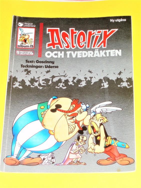 Asterix & Tvedräkten,vg,normalskick, normalslitet,hj,album 15