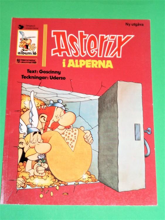 """Asterix """"i Alperna"""", vg, normalskick, normalslitet,hj, album 16"""