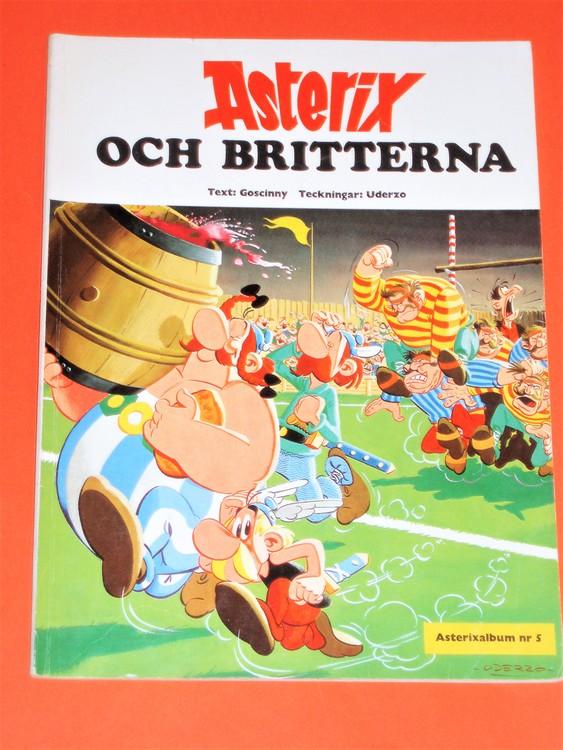 """Asterix """" och Britterna """", vg, normalskick, normalslitet,hj album 5"""