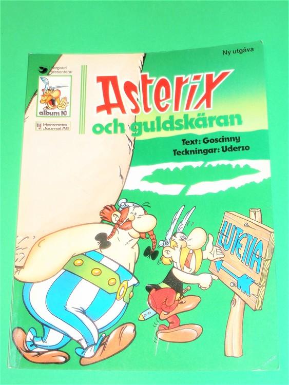 Asterix och guldskäran, vg, normalskick, normalslitet, hj,album 10