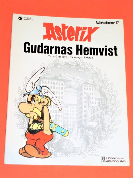 "Asterix ""Gudarnas Hemvist"",vg,normalskick, normalslitet,hj,album 17"