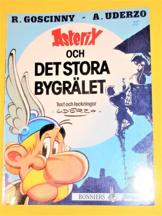 """Asterix """"och det stora bygrälet"""",vg,normalskick, normalslitet"""