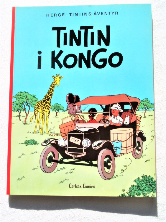Tintin i Kongo 1:a upplaga 1978 Carlsen Comics Ny oläst.  ISBN 91-510-2131-5