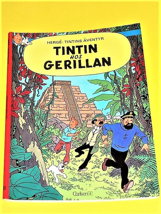 Tintin hos Gerillan 1:a upplagan 1976 VF riktigt fint exemplar.Carlsen