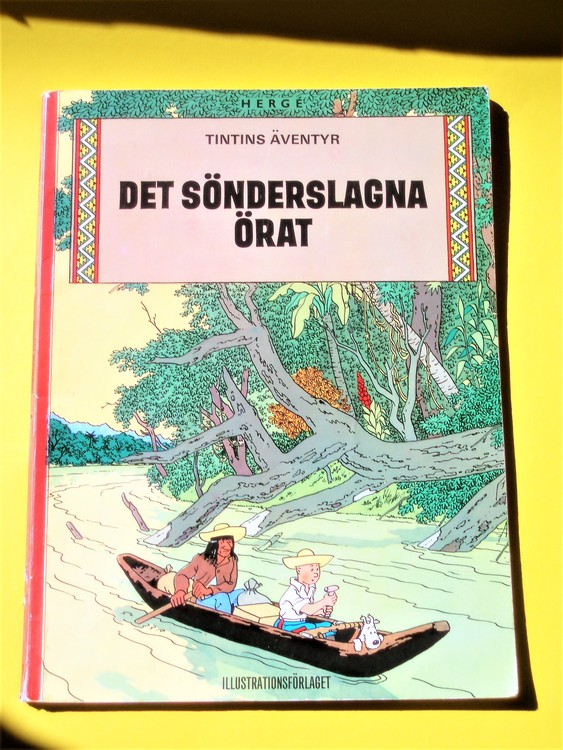"""Tintin""""Det sönderslagna örat""""1:a upplagan 1971 Illustrationsförlaget"""