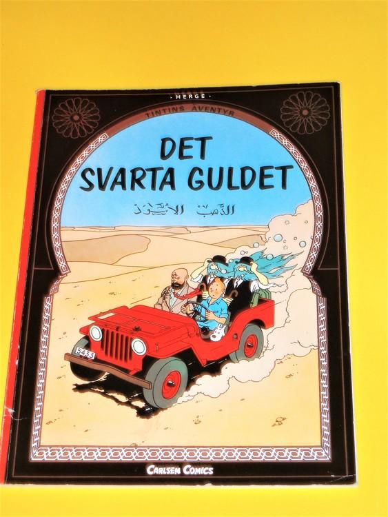 """Tintin """"Det svarta Guldet"""" VF, mycket bra exemplar, bra vita sidor,Carlsen"""