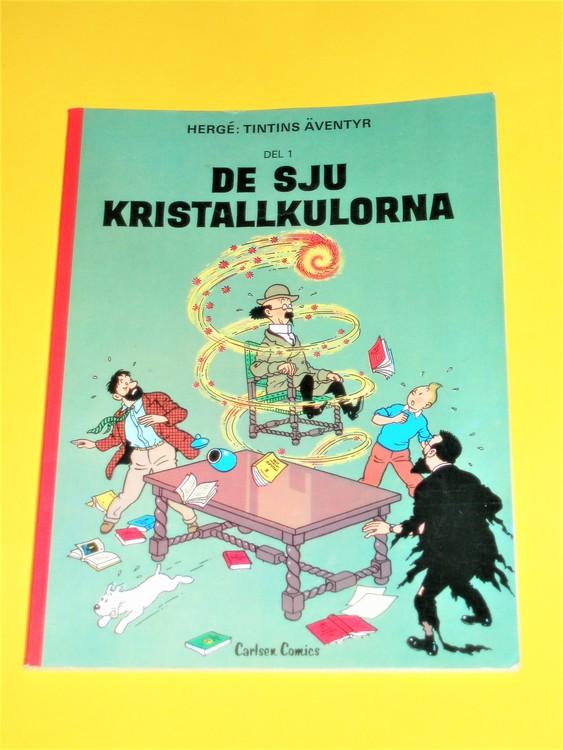 "Tintin "" De sju kristallkulorna"" FN,mycket bra exemplar, inga direkta defekter"