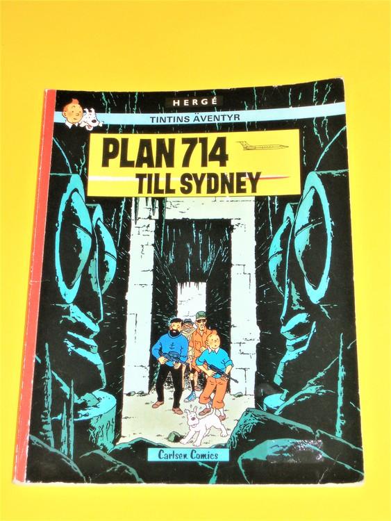 """Tintin """"Plan 714 till Sydney"""" VG,normalskick,normalslitet,inga direkta defekter"""