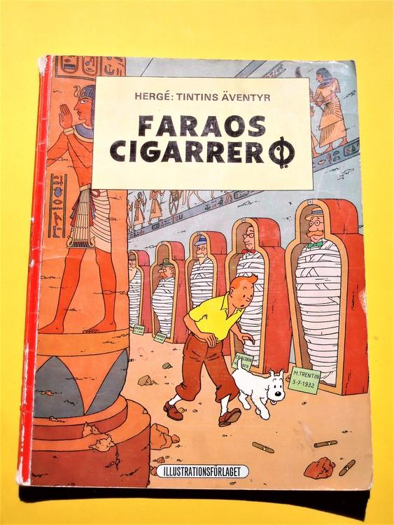 """Tintin""""Faraos Cigarrer""""1:a upplagan 1970 Illustrationsförlaget"""